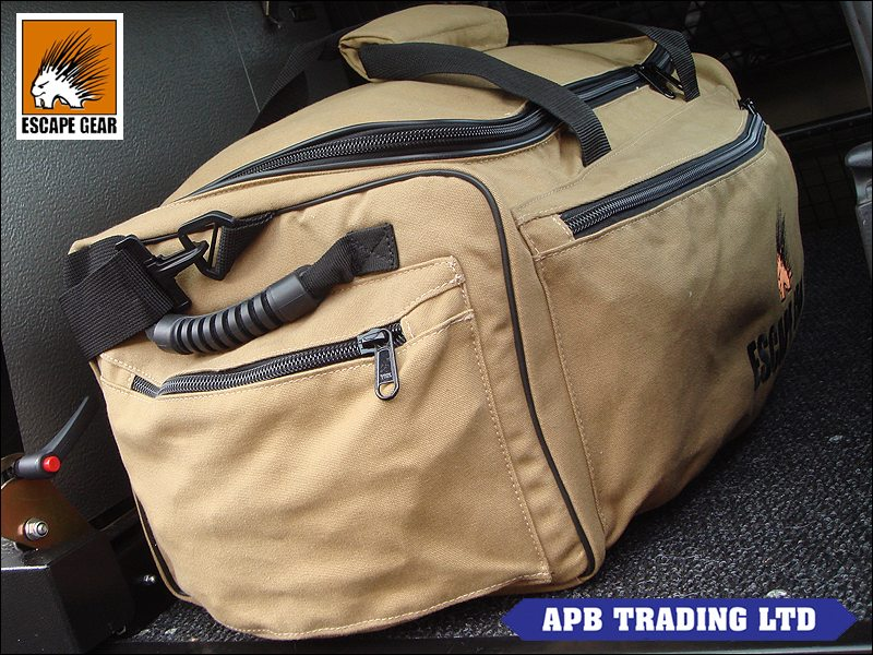 Escape gear 65l canvas overland safari travel bag sand for Travel expedition gear