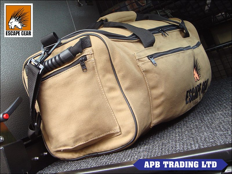 Escape gear 45l canvas overland safari travel bag sand for Travel expedition gear