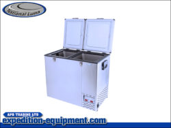 National Luna 110L Double Door Stainless Steel Fridge & Freezer